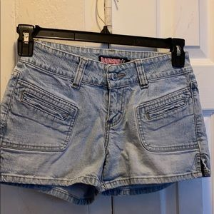 Bubble gum jean shorts